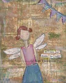 vintage distress ink art journal