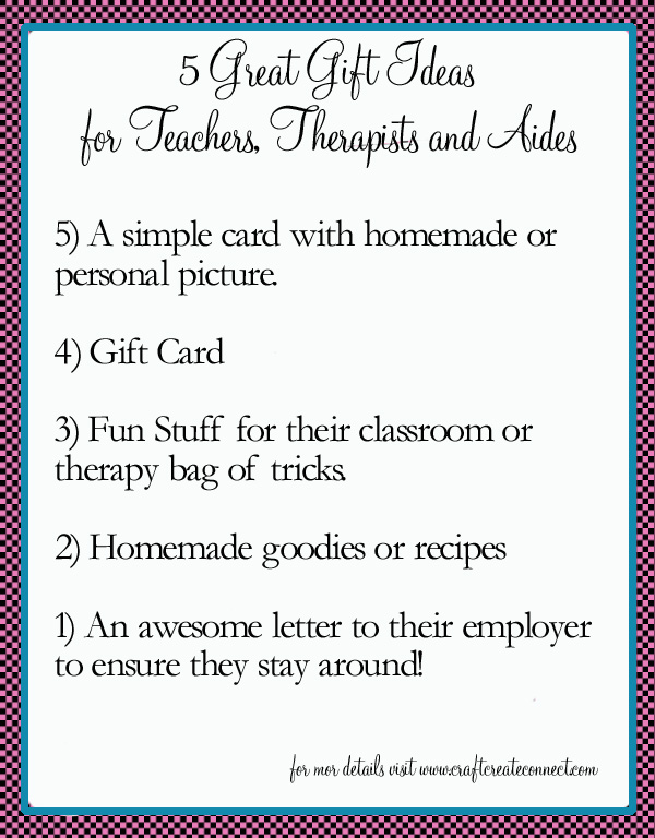 "Top 5 gifts to say ""Thank You"" to a teacher or therapist ..."