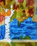 alcohol ink tree landscape