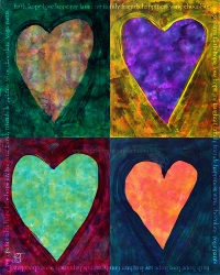 alcohol ink heart words