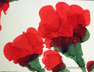 Alcohol Ink Poppy_craftcreateconnect