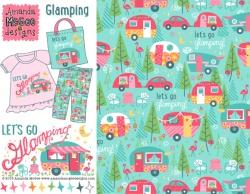 Girl camping print