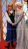 Anna and Elsa in Epcot