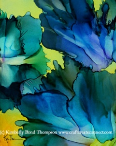 alcohol ink on yupo