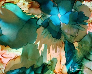 alcohol ink flowers on yupo