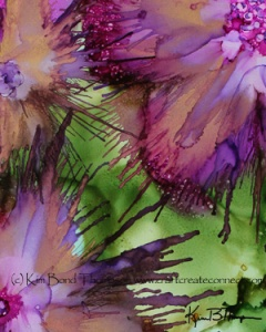 Alcohol ink on yupo flowers