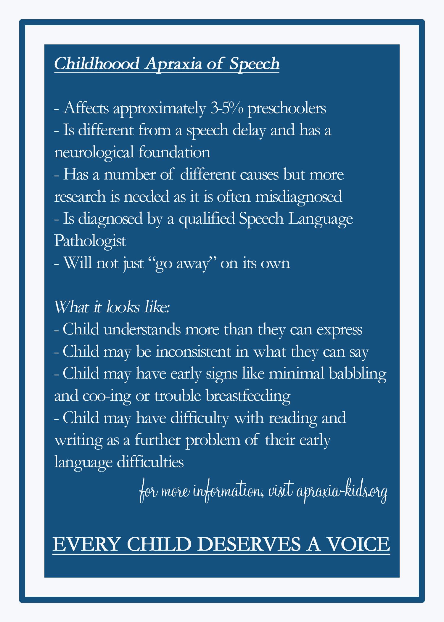 apraxia research