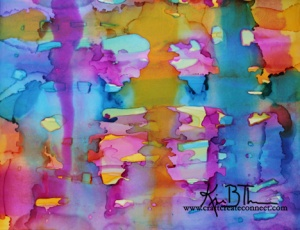 alcohol ink abstract Tim Holtz Glossy paper Ranger Ink