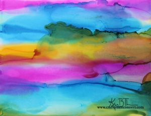 alcohol ink abstract Ranger glossy paper